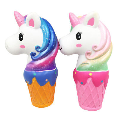 100% Wahr 20cm Squishy Toy Jumbo Unicorn Cotton Rainbo Ice Cream Silver Heart Pink Rabatte Verkauf