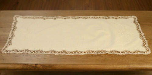 Lace Table Runner /'Special Cluny/' Beige Home Decor Gift Homewares 88cms NEW