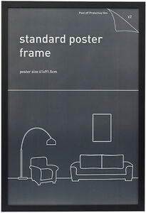 Maxi-Poster-Frame-61cm-x-91-5cm-24-034-x-36-034-Wood-Black-Border-NEW-pick-up-only