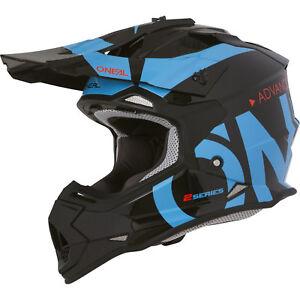 casco oneal motocross  Oneal Serie 2 Rl Liscio Casco Motocross Blu Mx Enduro Off Road Atv o ...
