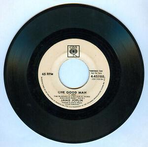 Philippines JANIS JOPLIN One Good Man 45 rpm PROMO Record