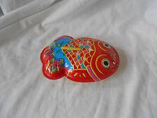 Vintage Metal Tin Toy Fish Noise Maker Bathtub Float Koi NEW Made in Japan