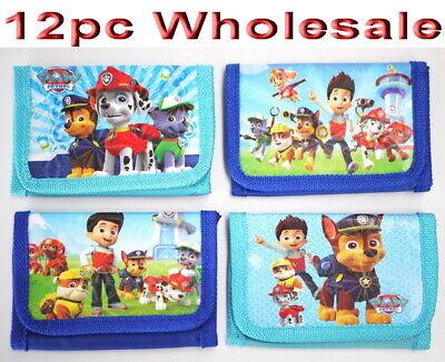 12pc Wholesale Bulk Lots Kids Boys Paw Patrol Purse Wallet Tri-fold Mixed