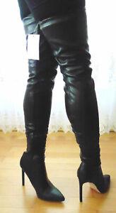 Damen Leder Overknee Stiefel Gr. 39 braun | eBay