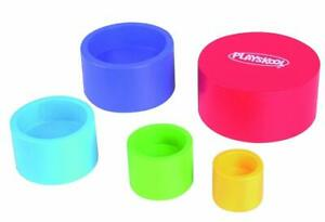 Playskool-Empilement-Tasses-Vibrant-Colore-Bois-Empileurs