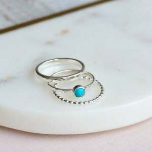 Turquoise-Stone-Ring-Dainty-Ring-Gemstone-Silver-Ring-Silver-stacking-ring