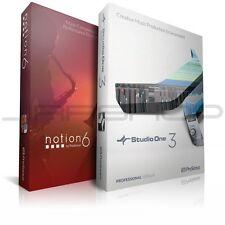 NEW Presonus Notion 6 Studio One 3 Pro Bundle Digital Audio Workstation PC/MAC