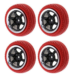 4pc-HSP-RGT-RC-1-10-ROCK-CRAWLER-Pre-Mounted-Wheels-amp-Tires-12mm-Hex-Red