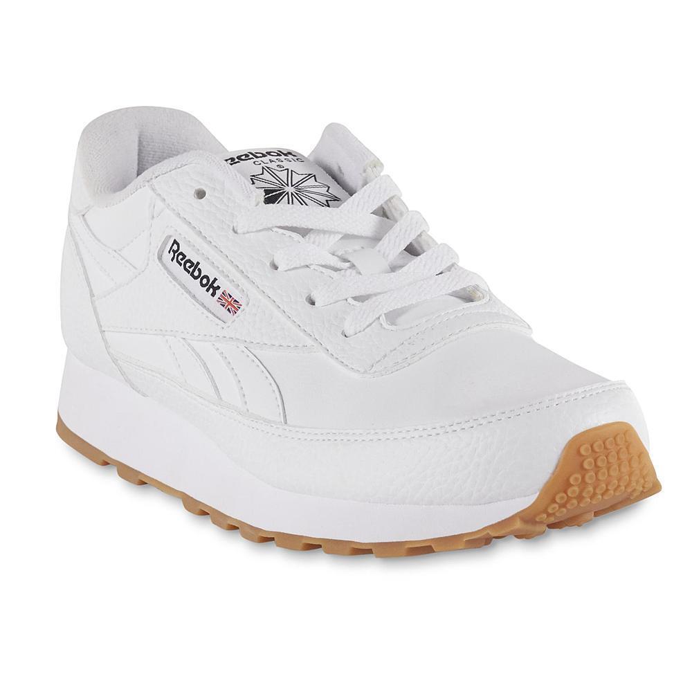 Reebok Women's Classic Renaissance Leather Athletic Shoe White foam jogging gym