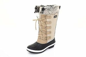 Sand-Storm-Womens-Winter-Snow-Boots-Tall-Insulated-Lace-up-Closure-High-Quality