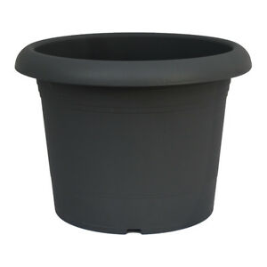 pflanzk bel rund 60 cm anthrazit pflanztopf blumenk bel kunststoff ebay. Black Bedroom Furniture Sets. Home Design Ideas