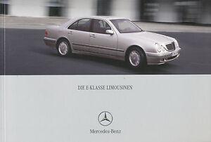 Mercedes-E-Klasse-Prospekt-5-00-64-S-2000-Auto-Autoprospekt-Broschuere-Pkw