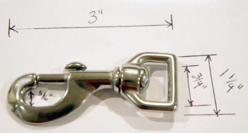 "Metal Bolt Snap Hook for 3//4/"" Strap D Ring 3/"" Long"