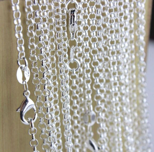 """10PC Wholesale 16-30"""" Fashion Jewelry Lot 925 Silver Pearl Cross Chains Necklace"""