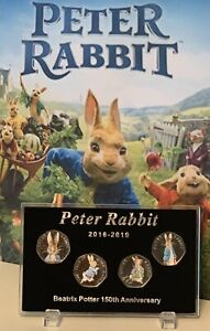 2016-2019-Display-Case-For-Series-PETER-RABBIT-50p-Coin-No-Coins-Stands