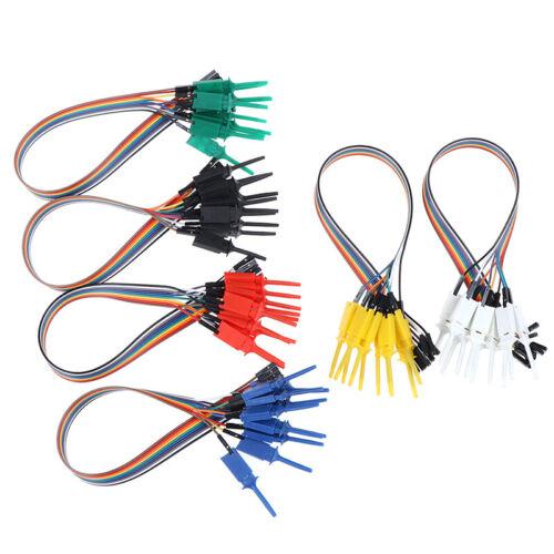10pcs 300mm Test Hook Clip Logic Analyzer Cable Gripper Probe Test ClB lxEC