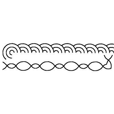 Sten Source Quilt Stencils 1-Inch Border 4-Inch x 15-Inch