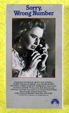 Sorry, Wrong Number (VHS, 1991)