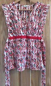 M-S-crinkle-coral-mix-top-size-8
