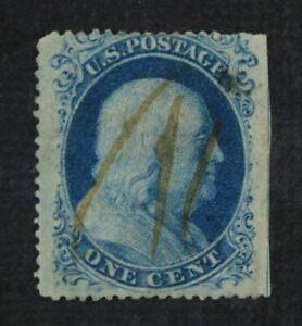 CKStamps-US-Stamps-Collection-Scott-20-1c-Franklin-Used-Spot-Thin