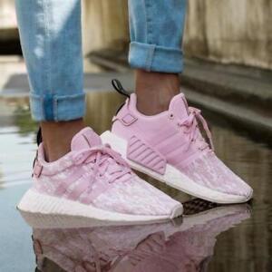 NEW Womens adidas NMD R2 Wonder Pink/White Running/Fashion ...