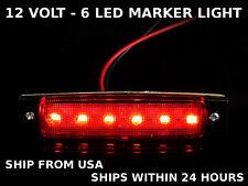Motorcycle Bike Cargo Boat Trailer Truck Car Led Marker Light Red