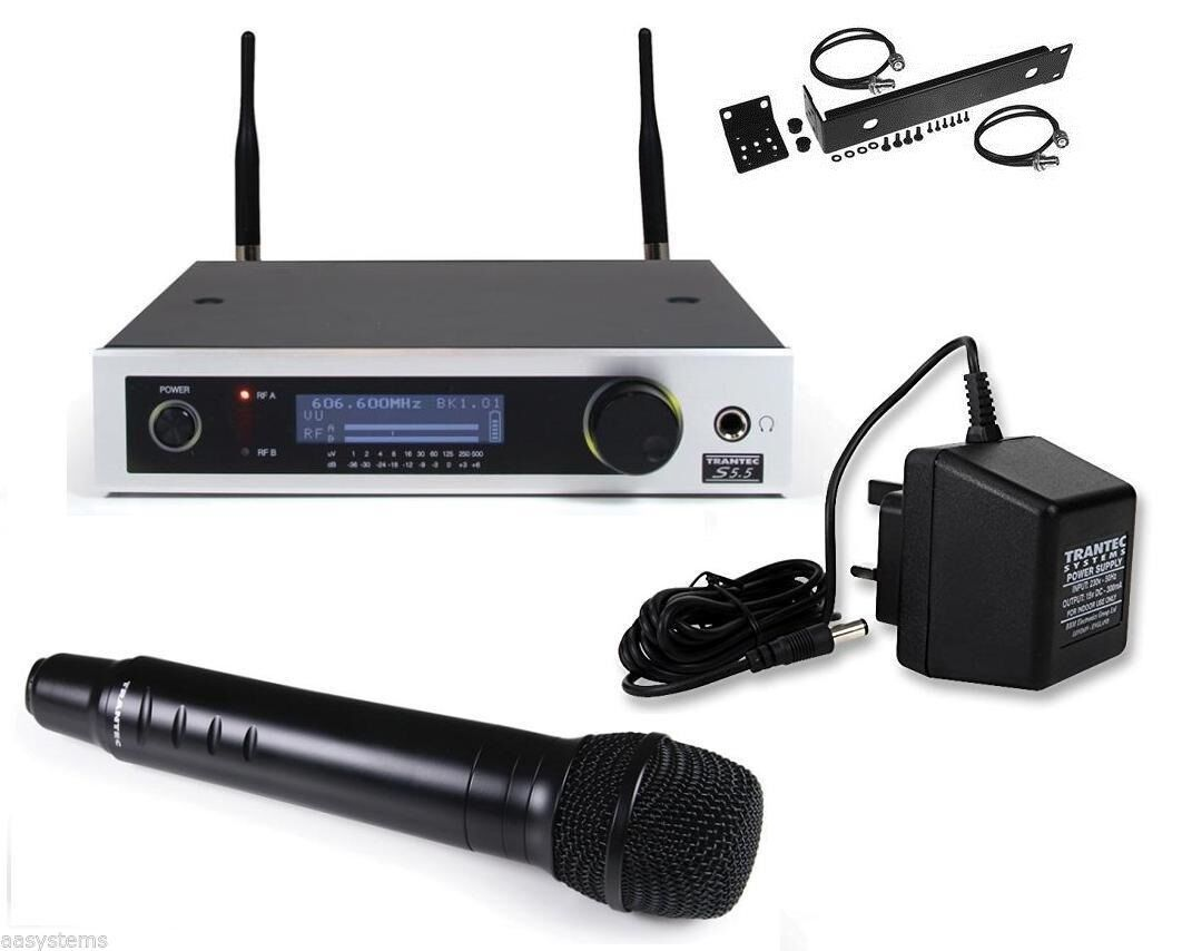 Details about TRANTEC S5 5 WIRELESS HANDHELD MICROPHONE Radio mic UHF Chan  65-70 823-865 mhz
