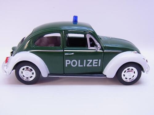 27597Welly VW Maggiolino Beetle polizia modello di auto senza attacco 1:40 NUOVO