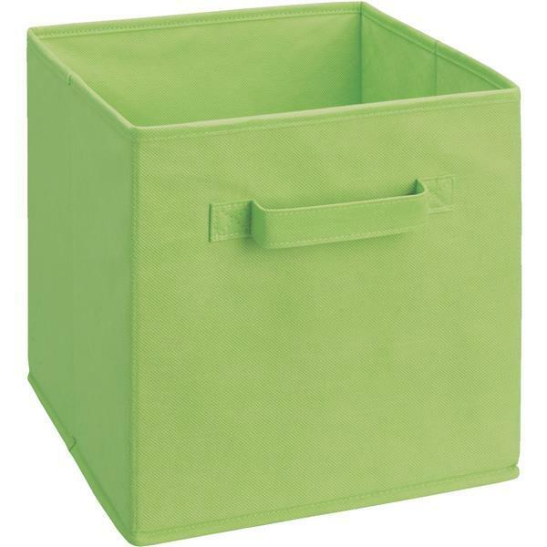 6 Pk ClosetMaid Cubeicals 11  H. x 10-1 2  W. x 10-1 2  D. verde Fabric Drawer