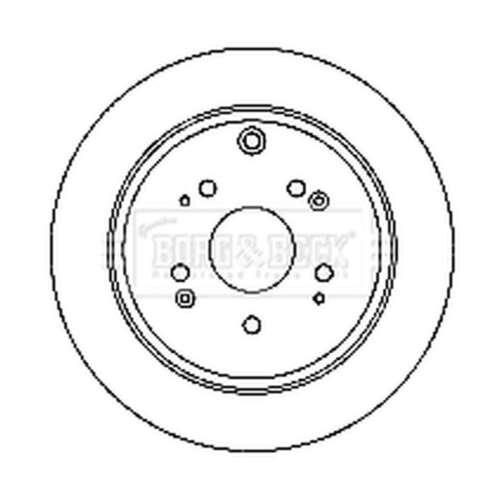 BBD4748 Genuine Borg /& Beck Rear Solid Brake Discs Set Pair