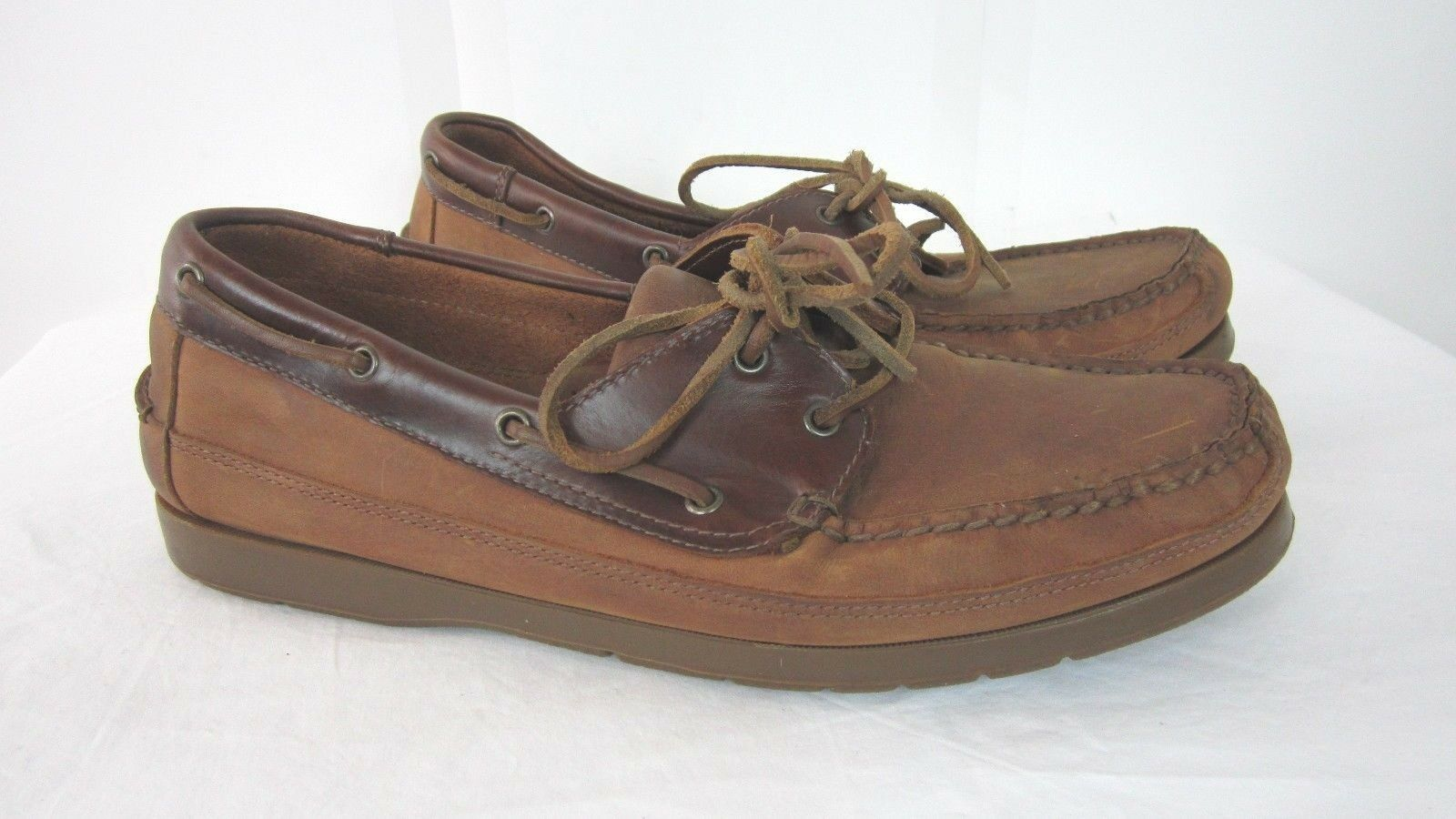 Nunn Bush Mens Loafers Boat shoes Brown Leather Size 11 M