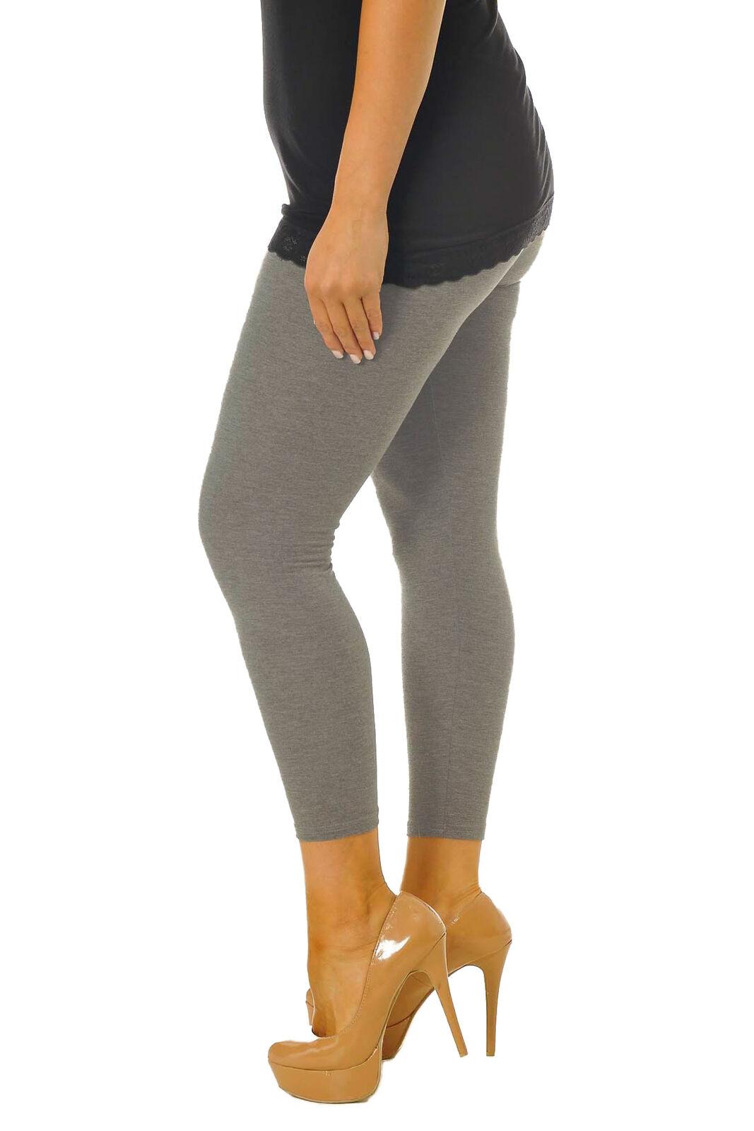 Nouveau Haut Femmes Uni Strechy Viscose Pleine Longueur Legging Grande Taille 8 To 26