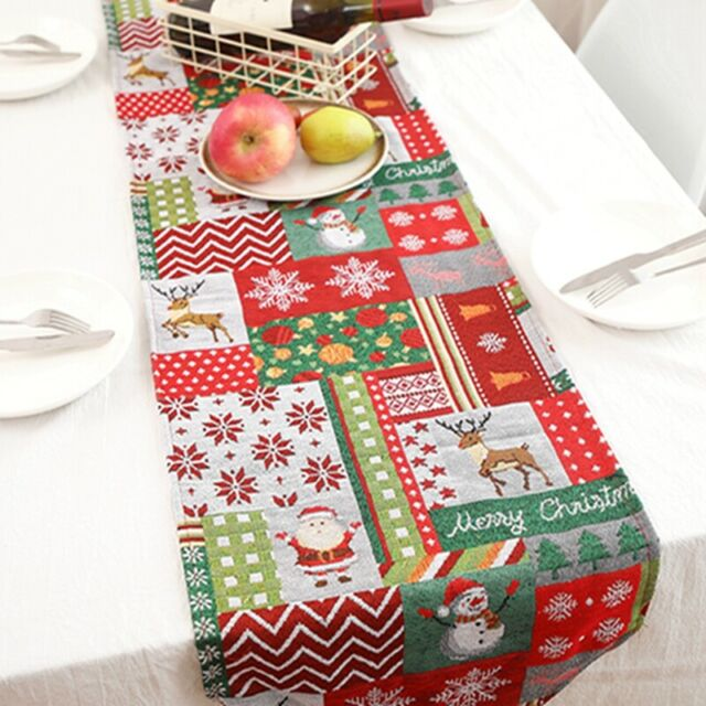 Plain Dyed Print Christmas Tablecloth Tabletops Kitchen Dining Table Cover Decor Ebay