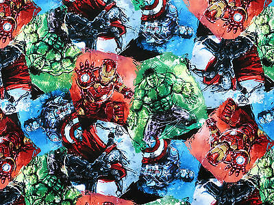 FAT QUARTER  MARVEL AVENGER CHARACTER  COTTON SUPERHEROS SPIDER MAN HULK  FABRIC