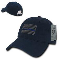 Navy Blue USA US American Flag TBL United States America Polo Baseball Hat Cap