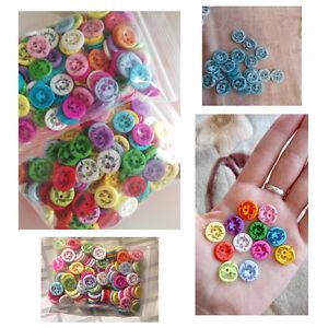 lot 20 bouton fleur 14 mm env. 2 trou couture scrapbooking décoration bricolage