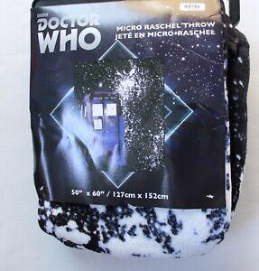 BBC-Doctor-Who-Tardis-Splatter-Micro-Raschel-Throw-Blanket-50in-x-60in