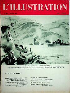 Original L'ILLUSTRATION French Magazine Apr 20 1940 Naval Battle Narvik Fjord