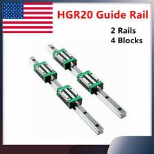 New Listing2pcs Hgr20 200mm 1700mm Linear Guide Rail 4pcs Hgh20ca Slider Block Cnc Diy Us