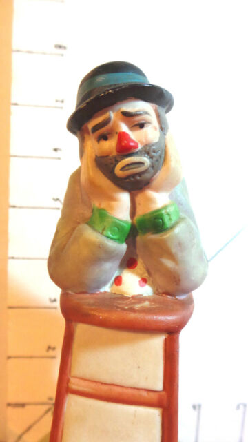 """Musical Figurine, Emmett Kelly Jr., Flambro, """"Send In The Clowns"""", Collectible"""