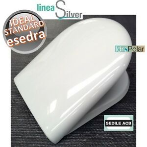 NUOVO-SEDILE-WC-IDEAL-STANDARD-ESEDRA-TERMOINDURENTE-AVVOLGENTE-PLASTICO-ERCOS