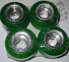 RICTA Chrome Core Skateboard Wheels - Crystal Green / Silver 51mm Factory 2nds.