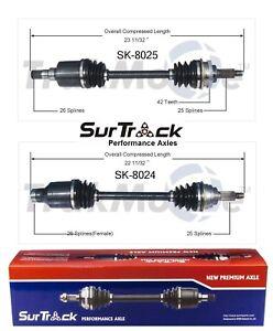 SurTrack Pair Set of 2 Front CV Axle Shafts For Suzuki Esteem 1.8L Automatic FWD