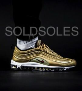 finest selection a9733 529fd Image is loading Nike-Air-Max-97-Metallic-Gold-Junior-Sizes