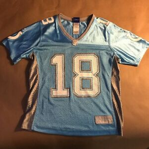 low cost 5565b 249b7 Details about Reebok NFL Peyton Manning Blue Jersey #18 Indianapolis Colts  Women's SIze S