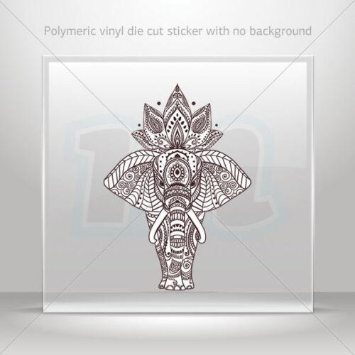 Autocollant Sticker INDIAN STYLE éléphant Tête Feng Shui bonne chance st7 22753