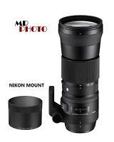 Sigma DG 150-600mm F/5-6.3 DG HSM OS Lens For Nikon Camera Lenses