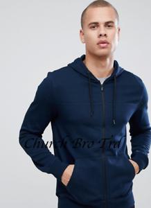 New-Burton-Menswear-zip-through-hoodie-in-navy-RRP-22