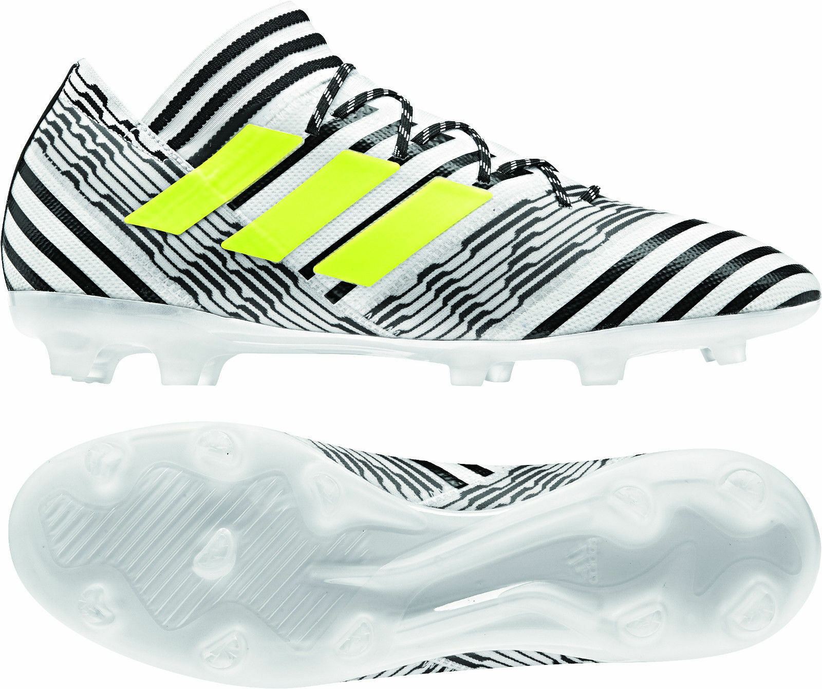 Adidas nemeziz 17.2 FG agilitymesh Soquí s80592 blancoo-negro-amarillo