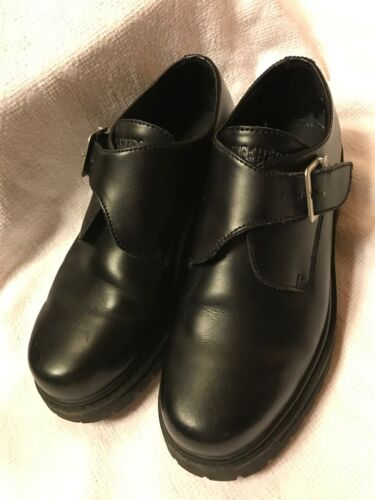 Skechers Leather Monk Strap Oxfords Lug Sole 10